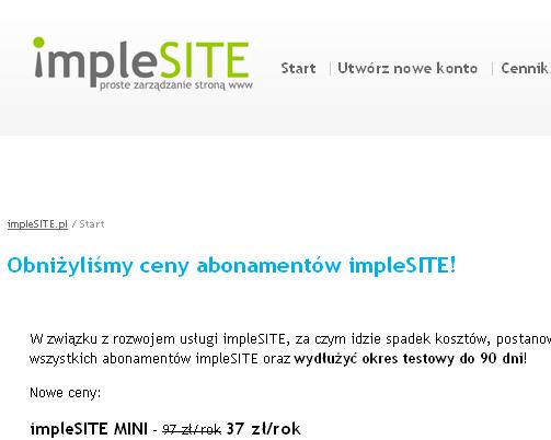 Implesite – podstawy obsługi systemu CMS Piotra Majewskiego