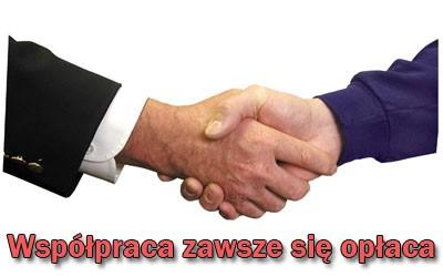 Uścisk dłoni - współpraca