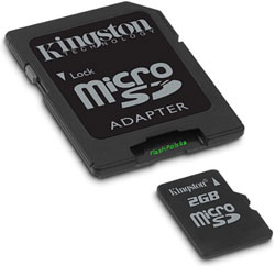 2 GB Kingston - mikro karta pamięci