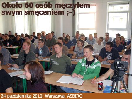 Wykład w ASBIRO 24 października 2010