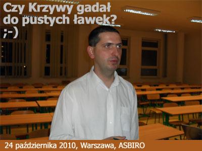 Po wykładzie w Warszawie