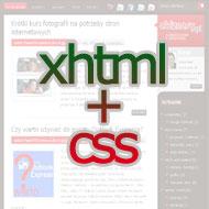Technologie stosowane wInternecie: (X)HTML iCSS
