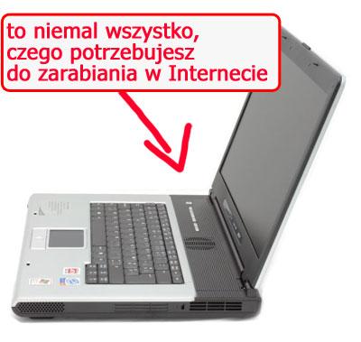Komputer przenośny doprowadzenia biznesu wSieci