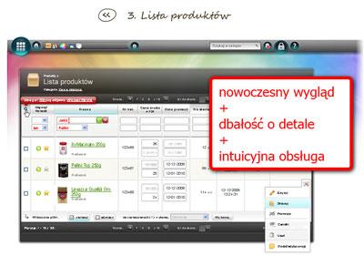 widok wnętrza systemu sklepów internetowych