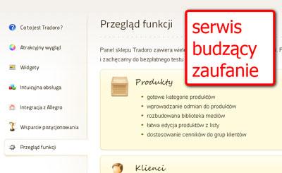 strona firmowa aplikacji sklepów internetowych
