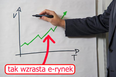 Przyrost branży e-biznesowej wPolsce inaświecie