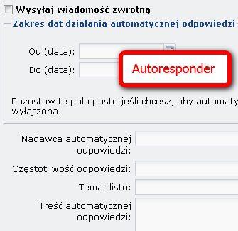 Autoresponder w nazwie.pl