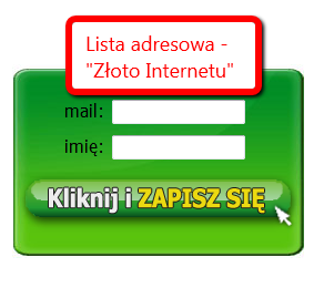 Metody zapisu na listę adresową
