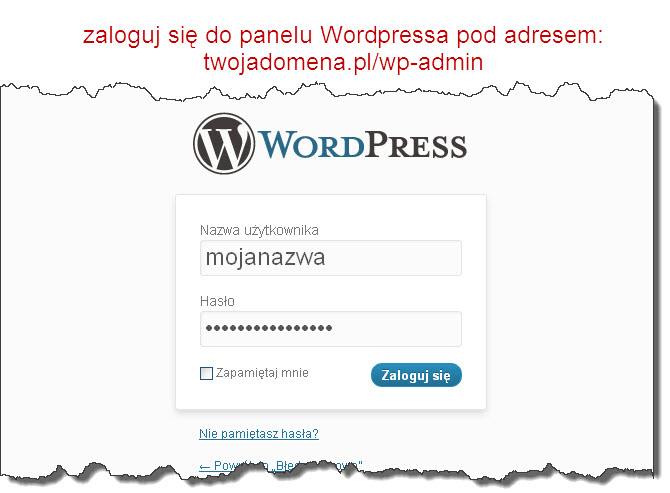 Logowanie doWordPressa