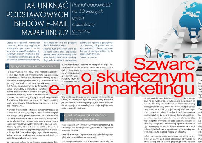 Natalia Szwarc o e-mail marketingu i błędach