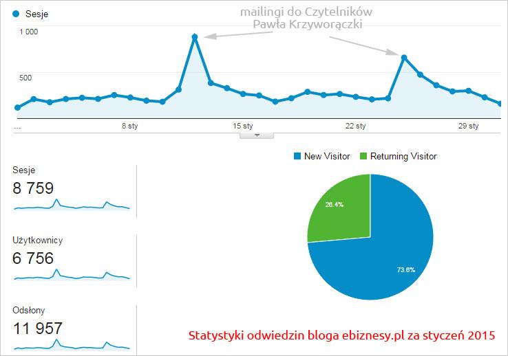 Statystyki odwiedzin bloga Pawła Krzyworączki - ebiznesy.pl