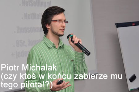 Piotr Michalak prezentuje