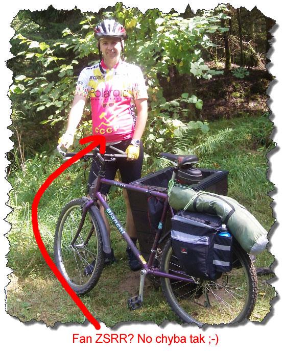 Piotr Krzyworączka z rowerem