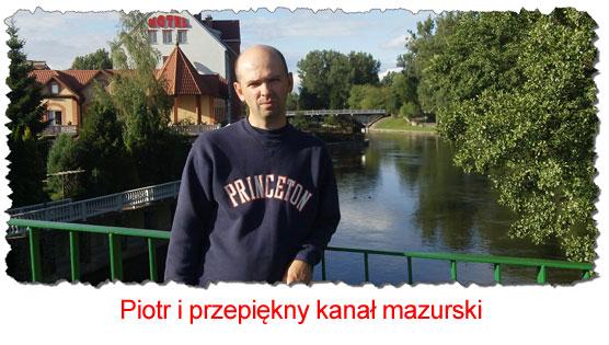 Piotr Krzywy na Mazurach