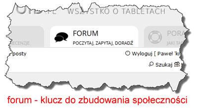 forum toklucz dozbudowania społeczności
