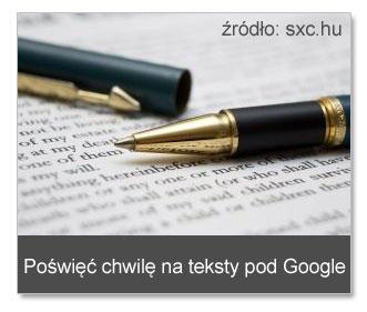 Teksty pozycjonerskie podGoogle