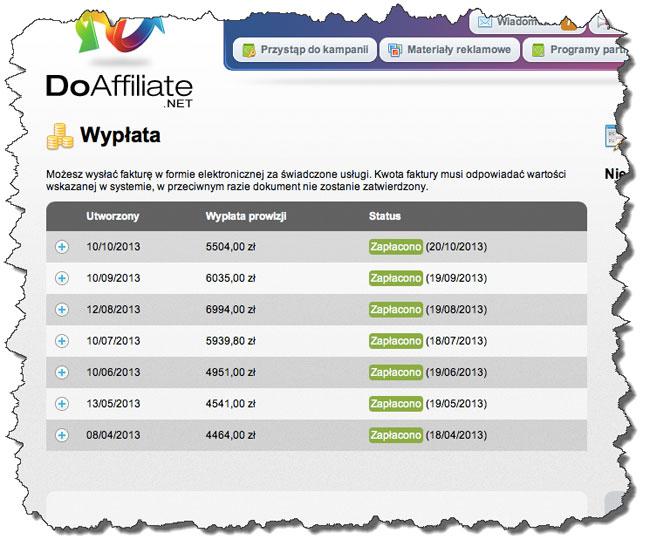 Doaffiliate.net - kolejne zarobki w PP