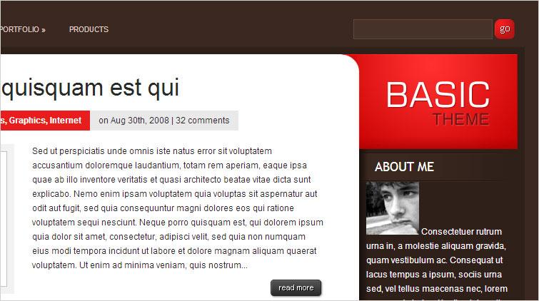 """Dawny szablon dla ebiznesy.pl, czyli """"Basic"""" odElegant Themes"""