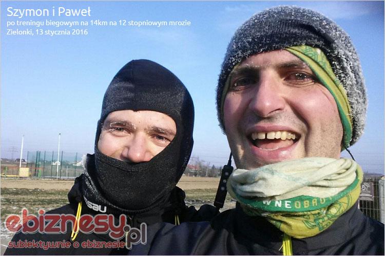 Bieg z Szymonem Sypniowskim na mrozie