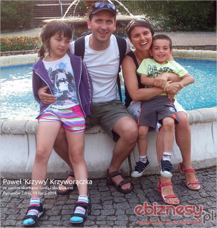 Paweł z rodziną - Rymanów Zdrój