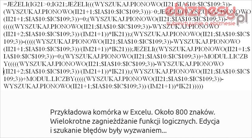 Komórka wprogramie Microsoft Excel