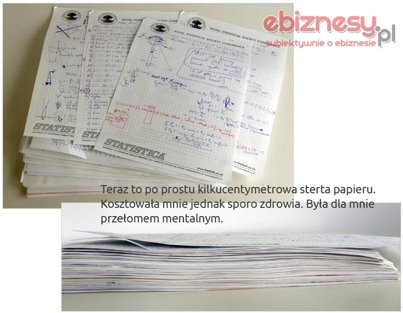Sterta papieru - notatki z doktoratu